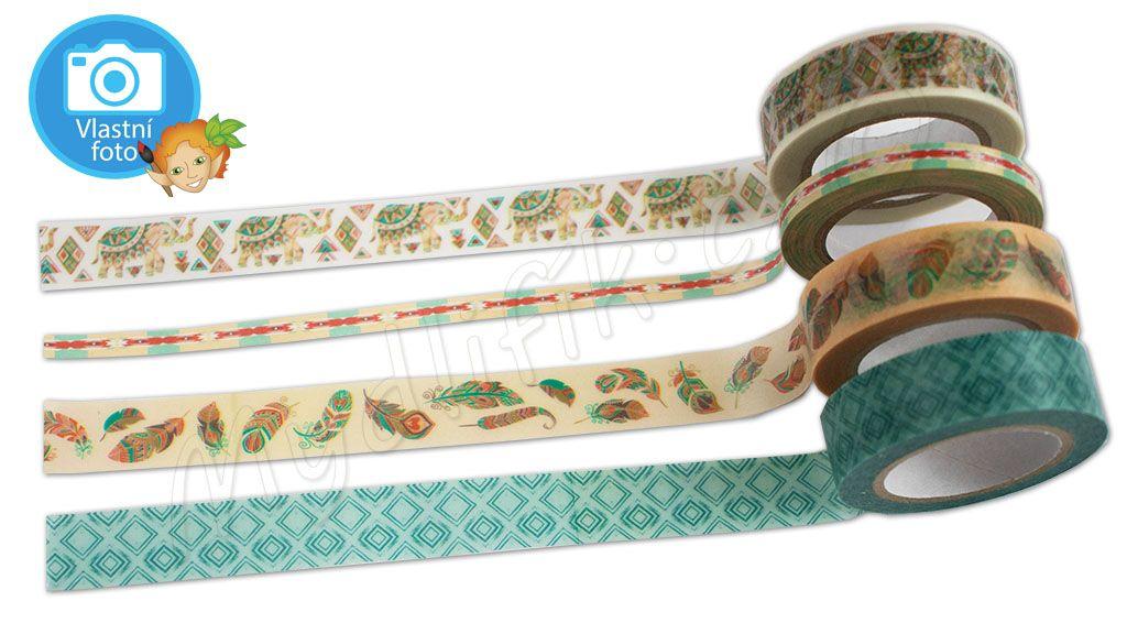Folia 26422 - Washi pásky 4 ks - motiv BOHO