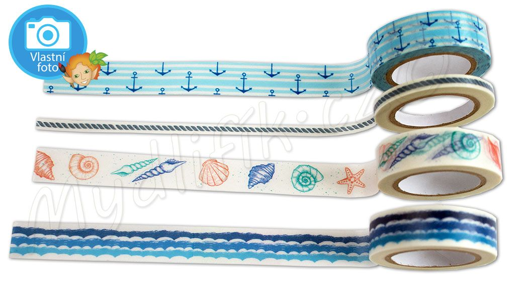 Folia 26424 - Washi tape 4 ks - motiv BOHO